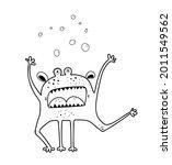 funny scary monster screaming... | Shutterstock .eps vector #2011549562