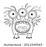 funny and cute alien monster... | Shutterstock .eps vector #2011549565