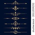 vintage set. floral elements... | Shutterstock .eps vector #2011559252