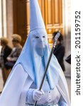 white and blue nazareno in the... | Shutterstock . vector #201159752