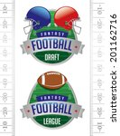 A vector illustration of American Fantasy Football badges. Vector EPS 10. File contains transparencies.