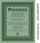 warranty template.... | Shutterstock .eps vector #2011685492