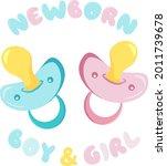 set of baby pacifier for...   Shutterstock .eps vector #2011739678