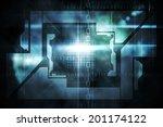 digitally generated black... | Shutterstock . vector #201174122