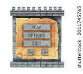stone castle game interface...