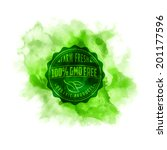 eco stamp label of healthy... | Shutterstock .eps vector #201177596