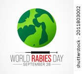 world rabies day is observed... | Shutterstock .eps vector #2011803002