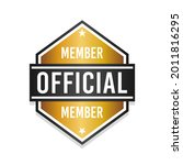 official member badge icon seal.... | Shutterstock .eps vector #2011816295