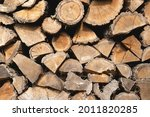 Pile Of Dry Chopped Firewood...