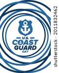 u.s. coast guard day in united...   Shutterstock .eps vector #2011832462