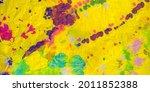 trippy pattern. orange art... | Shutterstock . vector #2011852388