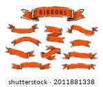 set of vintage ribbon banners.... | Shutterstock .eps vector #2011881338
