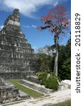 The famous Maya ruins of Tikal in Guatemala - stock photo