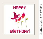 happy birthday  greeting card | Shutterstock .eps vector #201193055