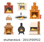 set of home brick and metal... | Shutterstock .eps vector #2011930922