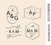 wedding monogram. vintage... | Shutterstock .eps vector #2011938008