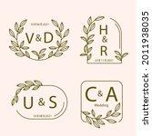 wedding monogram. vintage... | Shutterstock .eps vector #2011938035