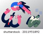 family violence and abusing...   Shutterstock .eps vector #2011951892