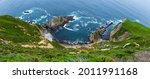 Steep Cliffs And Breaking Ocean ...