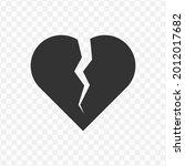 transparent broken heart icon...
