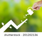 concept of growing company with ... | Shutterstock . vector #201202136