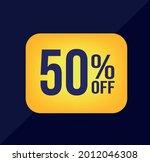 50 percent off  yellow ballon...   Shutterstock .eps vector #2012046308
