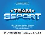 team esport 3d editable text...   Shutterstock .eps vector #2012057165