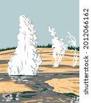 wpa poster art of norris geyser ...   Shutterstock .eps vector #2012066162