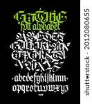 full alphabet in the gothic...   Shutterstock .eps vector #2012080655