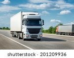 truck on road. cargo... | Shutterstock . vector #201209936
