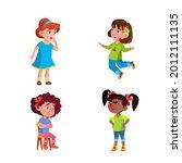 girls children different... | Shutterstock .eps vector #2012111135