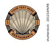 clam restaurant logo vector eps ...   Shutterstock .eps vector #2012169698