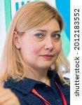Small photo of Saint Petersburg-Russia-06.06.2021: XXIII St. Petersburg International Economic Forum 2019. SPIEF 2019 participants. Natalia Tsizer, Chairman of the Management Board, African Business Initiative Union