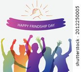 happy friendship day greeting... | Shutterstock .eps vector #2012250005