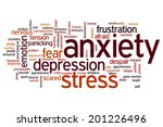 anxiety concept word cloud...   Shutterstock . vector #201226496