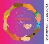 happy friendship day banner ...   Shutterstock .eps vector #2012270765