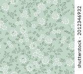 vector small white flowers... | Shutterstock .eps vector #2012346932