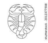 isolated scorpio symbol western ...   Shutterstock .eps vector #2012377508