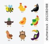 Cute Birds Vector Illustration...