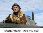 world war two fighter pilot | Shutterstock . vector #201242552