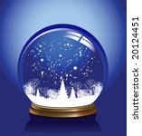 vector snow globe with a town... | Shutterstock .eps vector #20124451