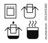drip bag coffee icons set.... | Shutterstock .eps vector #2012455385