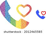 love phone receiver mosaic icon ...   Shutterstock .eps vector #2012465585