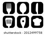 kitchen icon symbols buttons...   Shutterstock .eps vector #2012499758