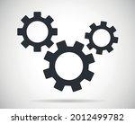 three gears symbol vector icon   Shutterstock .eps vector #2012499782