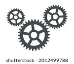 three cogwheel gears symbol...   Shutterstock .eps vector #2012499788