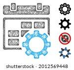 mesh calendar settings gear web ...   Shutterstock .eps vector #2012569448