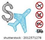 mesh aviation business web...   Shutterstock .eps vector #2012571278