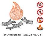 mesh bastard campfire web icon...   Shutterstock .eps vector #2012575775