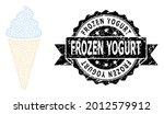 frozen yogurt dirty stamp seal... | Shutterstock .eps vector #2012579912